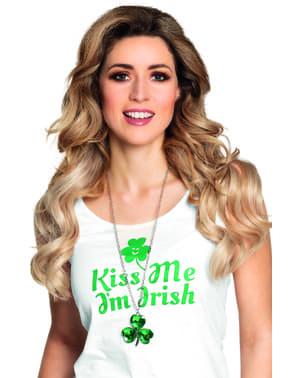 St Patrick's clover necklace