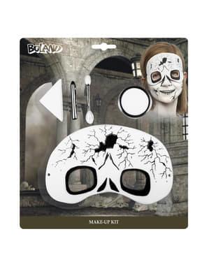 Maquilhagem e máscara de fantasma infantil