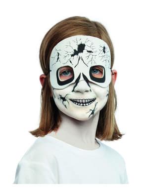 Maquillaje y antifaz de fantasma infantil