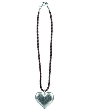 Oktoberfest necklace in the shape of a heart