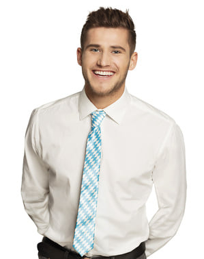 Cravatta Oktoberfest blu e bianca