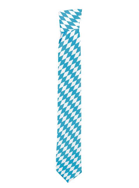 Corbata de Oktoberfest azul y blanca - para tu disfraz