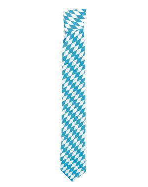 Blauw witte Oktoberfest stropdas