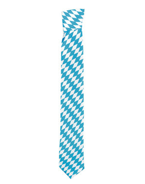 Blue and white Oktoberfest tie