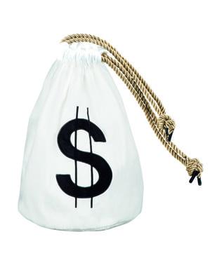 Mala de ladrão com símbolo do dólar