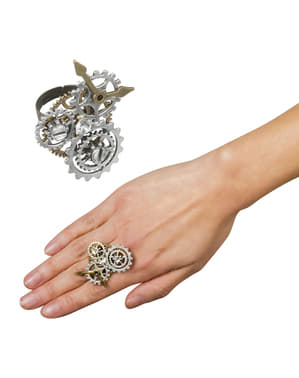 Steampunk ring med tannhjul