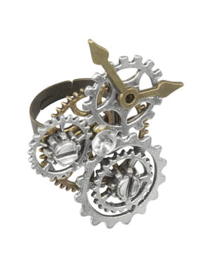 Steampunk ring with cogs