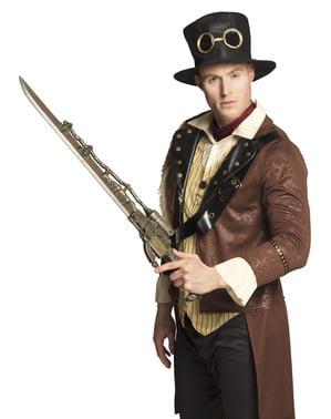 Steampunková pistole s mečem