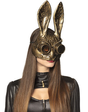 Steampunk rabbit eye mask