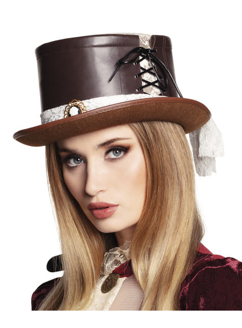 Sombrero Steampunk con camafeo
