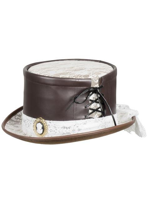 Sombrero Steampunk con camafeo - para tu disfraz