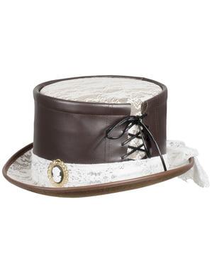 Steampunk hat med broche