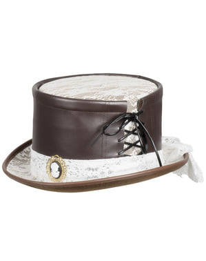 Steampunk hat with cameo