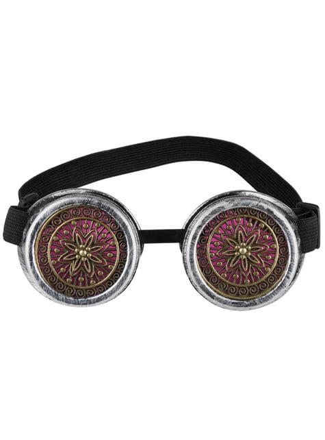 Gafas Steampunk rosas - para tu disfraz