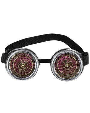 Óculos Steampunk cor-de-rosa