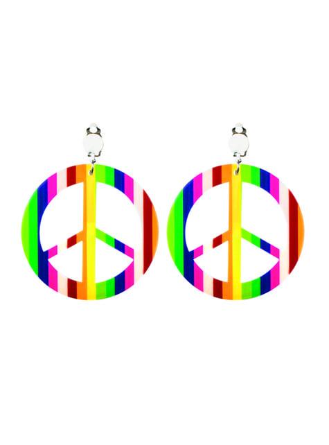 Pendientes con el símbolo de la paz - para tu disfraz