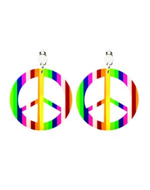 Pendientes con el símbolo de la paz