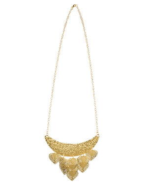 Gypsy necklace with gold details