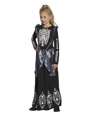 Skjelett kostyme til jenter