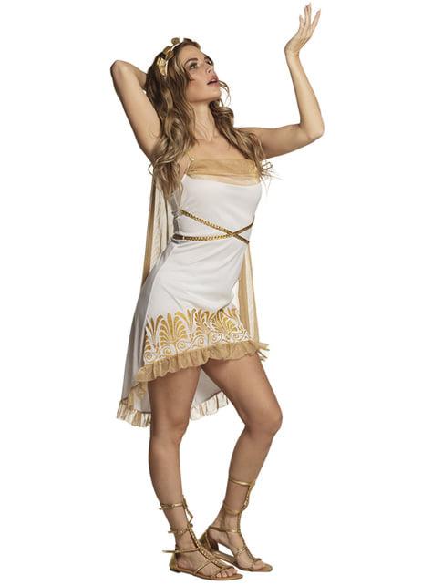 Disfraz de griega sexy dorado para mujer