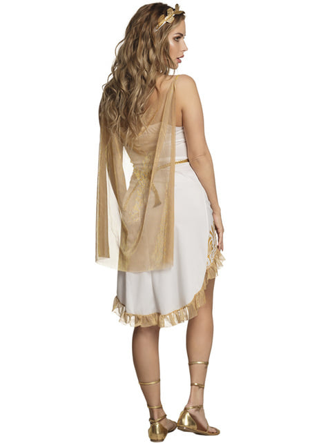 Sexy gold Greek woman costume for women