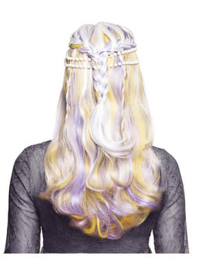 Perruque sirène avec perles femme