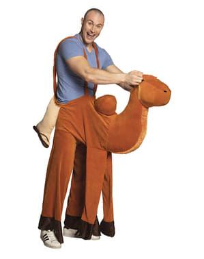 Rij mee kameel kostuum voor volwassenen