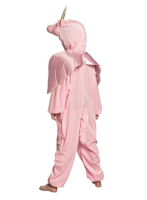 Disfraz de unicornio rosa onesie para niña - niña
