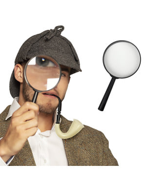 Lente di ingrandimento di detective