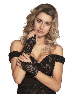 Gothik Handschuhe mit Spitze für Damen