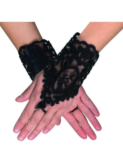 Guantes góticos con puntillas para mujer - para tu disfraz