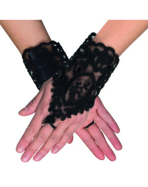 Gothic gloves with lace for women