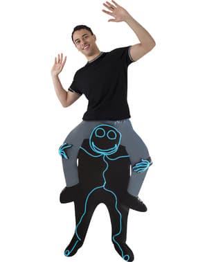 Disfraz a hombros de Monigote para hombre