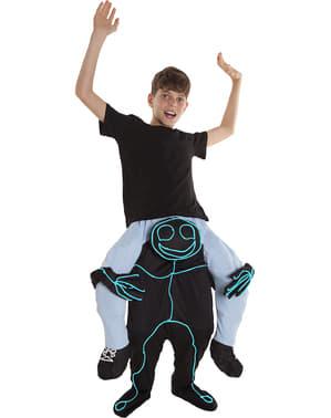 बच्चों के लिए डूडल पोशाक पर सवारी