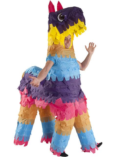 Disfraz de piñata de llama hinchable para adulto
