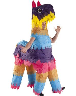 Maskeraddräkt piñata flamma uppblåsbar för vuxen