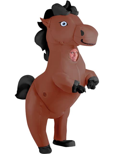 Disfraz de caballo hinchable para adulto