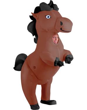 Puhallettava hevosasu aikuisille