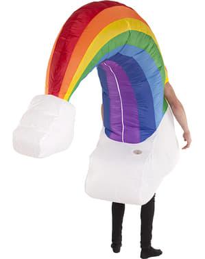 Oppustelig regnbue kostume til voksne