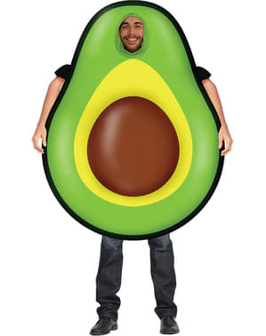 Inflatable avocado costume for adults