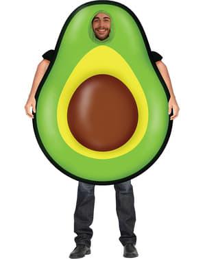Oppustelig avocado kostume til voksne
