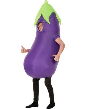 大人のための膨脹可能な茄子の衣装