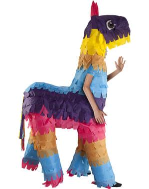 Opblaasbaar lama piñata kostuum voor kinderen