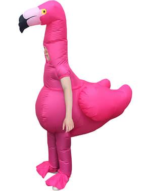 Fato de flamingo insuflável infantil