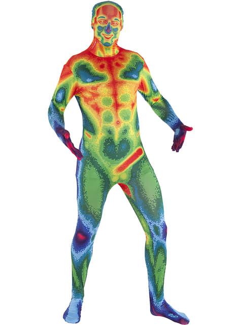 Disfraz de mapa de calor Morphsuit - adulto
