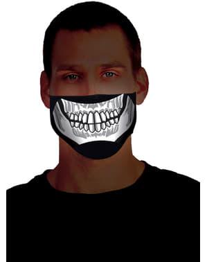 Leuchtende Skelett Halbmaske für Erwachsene