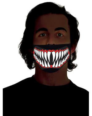 Yetişkinler için keskin dişler aydınlık yarım maske