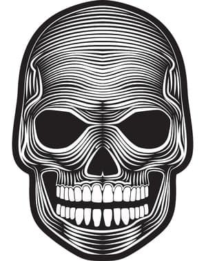 Máscara de esqueleto luminoso para adulto
