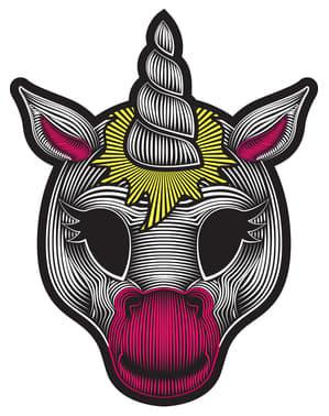 Maschera di unicorno luminoso per adulto
