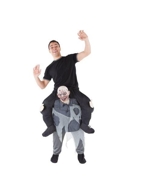 Piggyback Grijs Zombie kostuum voor volwassenen